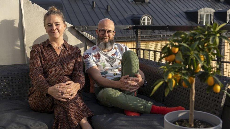 Katarina Liljestam Beyer y Jonas Häggqvist