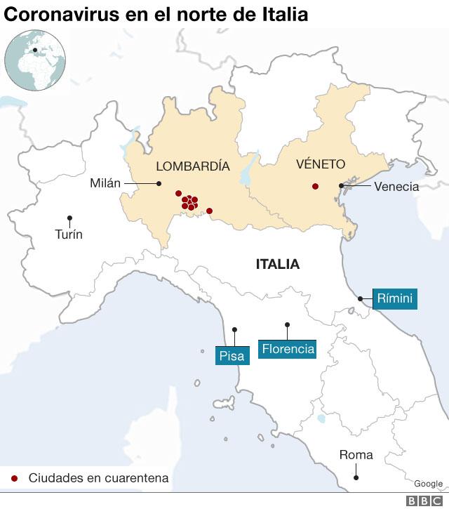 Coronavirus en el norte de Italia