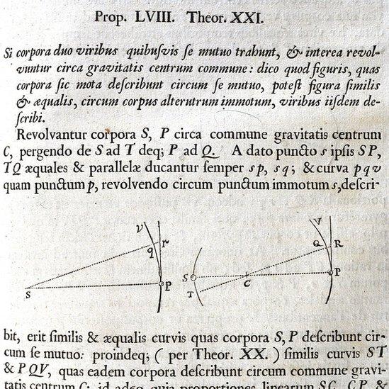 Copia facsimilar de Principia Mathematica de Isaac Newton