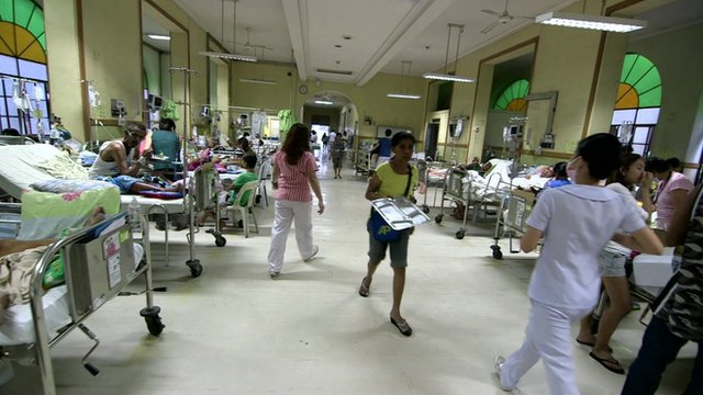 Staff working in a Philippines hospital