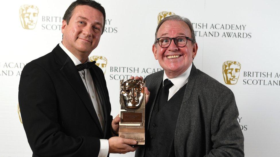 Ford Kiernan receives his award
