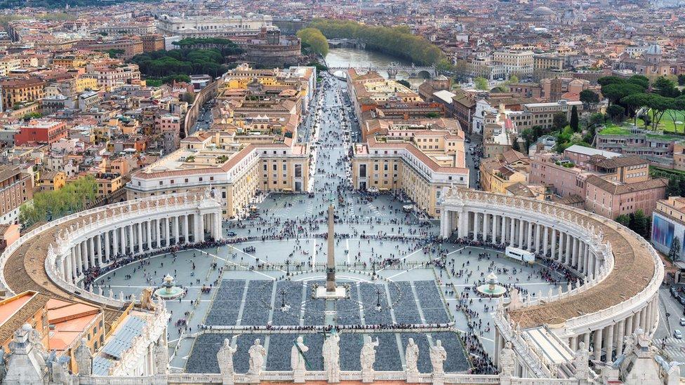 Vista aérea del Vaticano