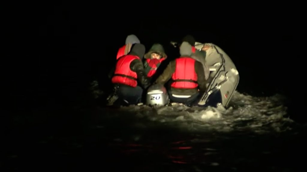 Six migrants are rescued from a dinghy off Dover