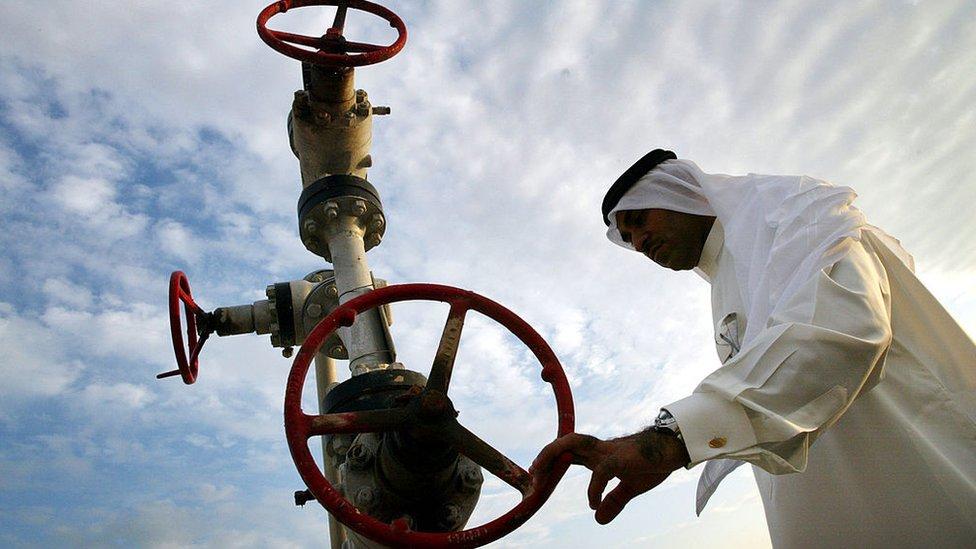Una instalación petrolífera