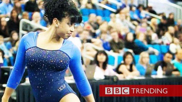 Photo of American gymnast Sophina DeJesus