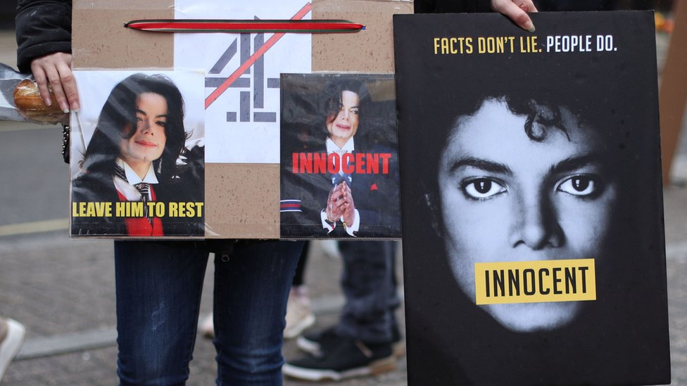 Protest posters in support of Michael Jackson