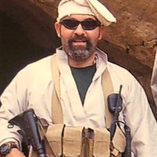 مارك بوليميروبولوس خلال عمله في أفغانستان
