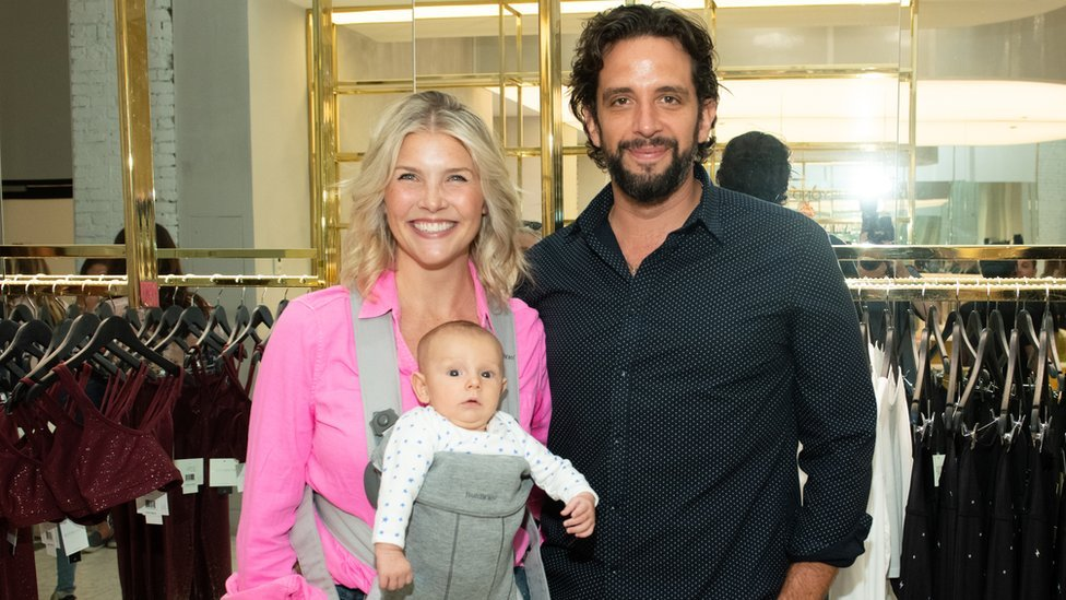 Nick Cordero with wife Amanda and their son Elvis