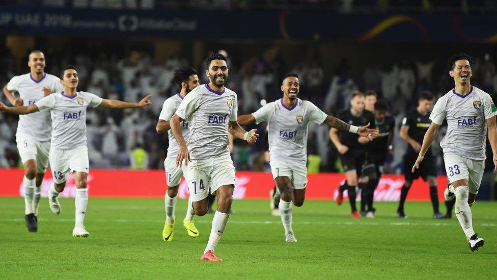 Jugadores del Al Ain celebran