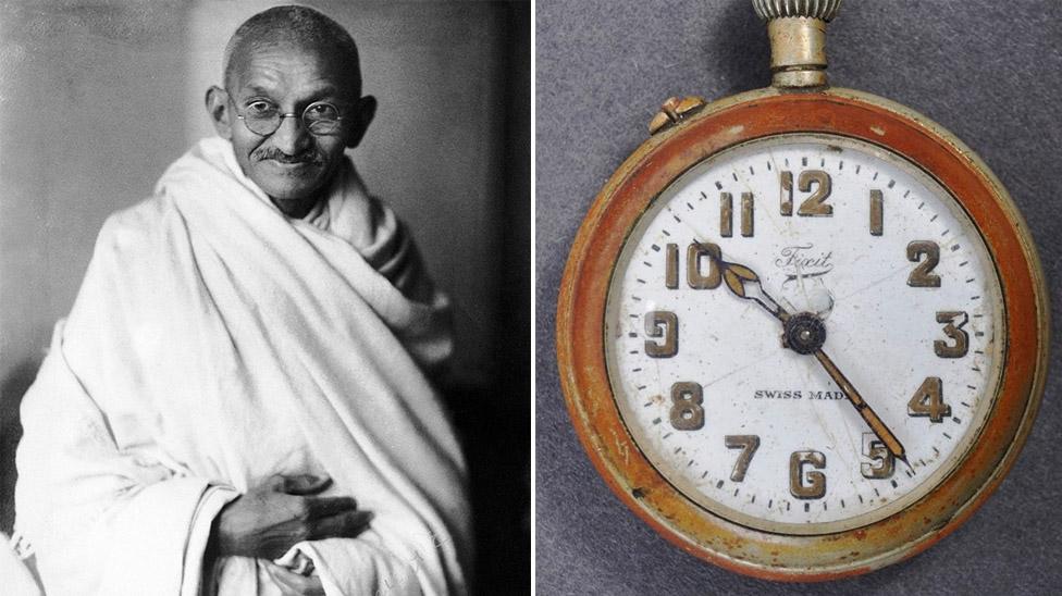 Mahatma Gandhi and his pocket watch