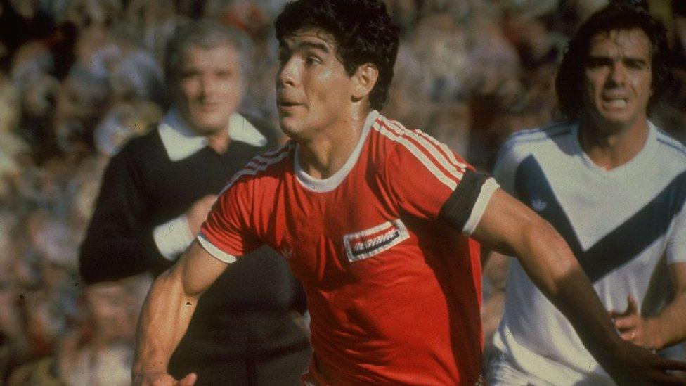 Maradona con Argentinos Junior.