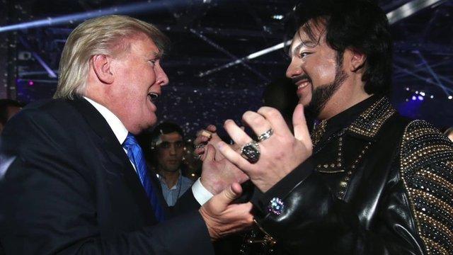 Donald Trump (left) and Philipp Kirkorov