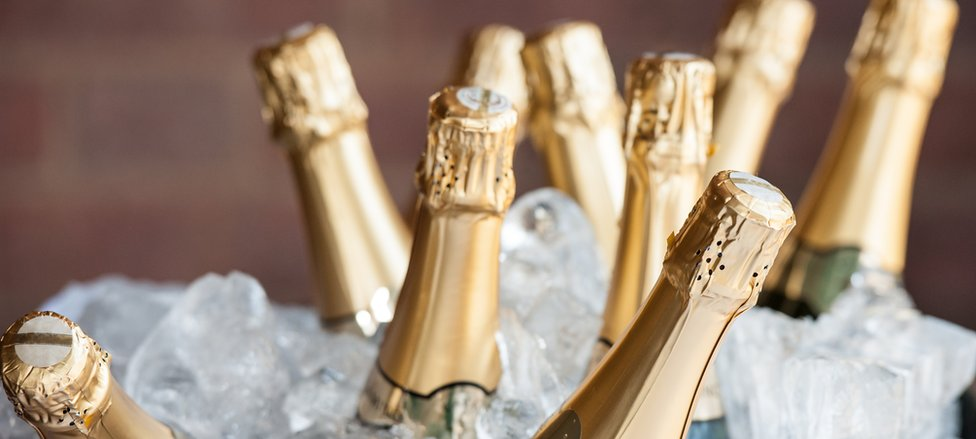 File pic of Champagne bottles