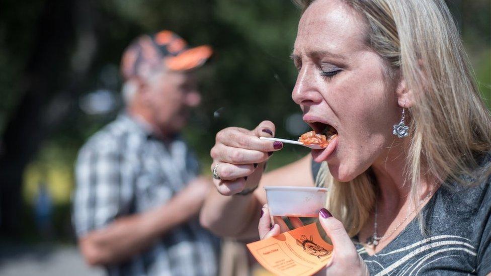 Ciara Boggs eats roadkill