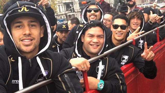 New Zealand's Rugby League team on tour in London