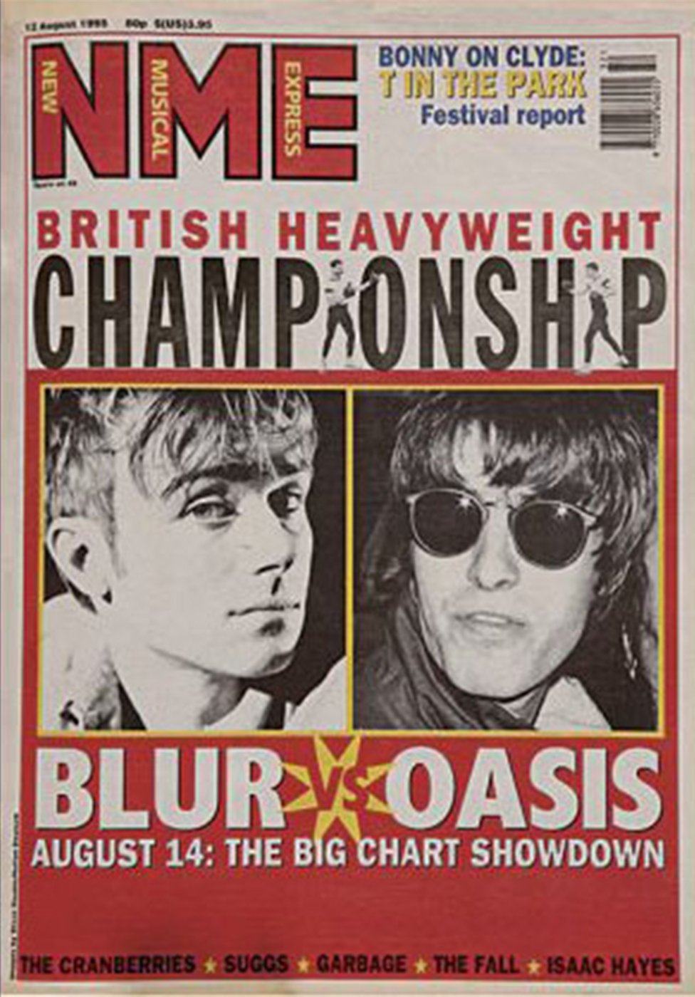The NME's Blur vs Oasis cover