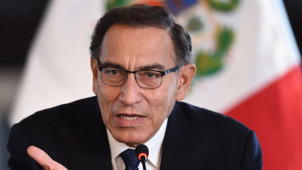 El presidente de Perú, Marín Vizcarra