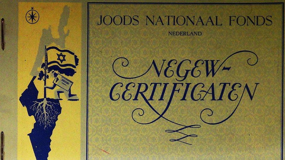 Certificado del Fondo Nacional Judío.