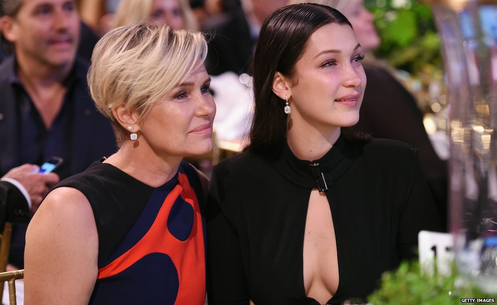 Yolanda Foster and Bella Hadid