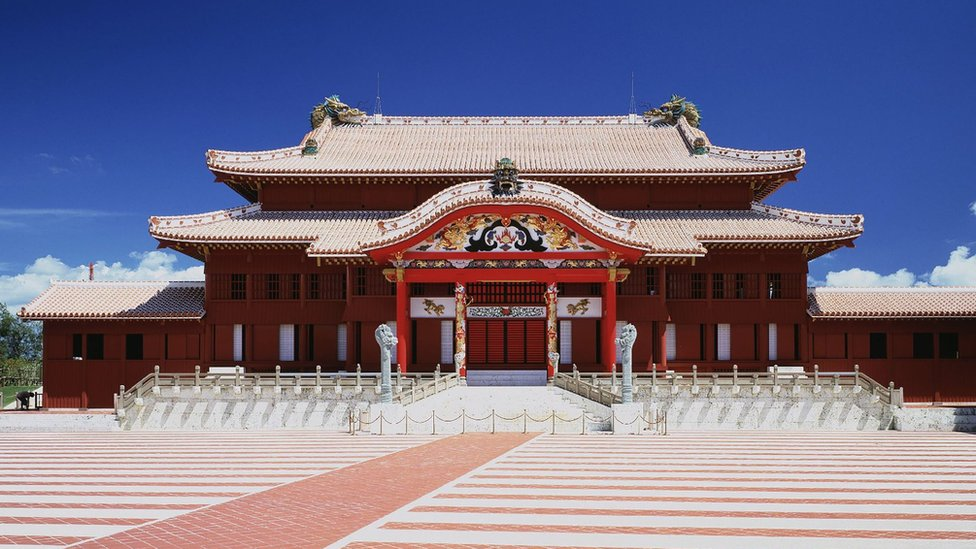 This picture taken on September 1, 1993 shows historic Shuri Castle in Naha, Okinawa prefecture, southern Japan.