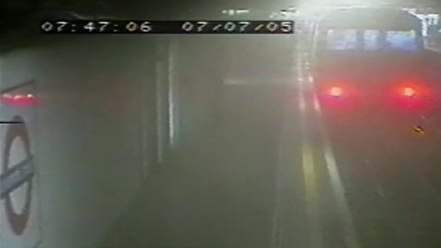 CCTV shot from a tube station just after the bomb went off