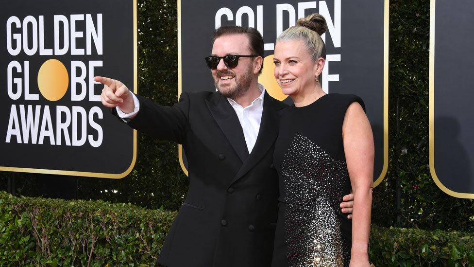 Ricky Gervais with Jane Fallon