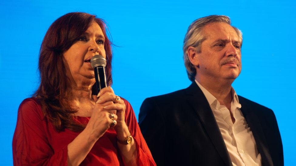 Cristina Fernández de Kirchner y Alberto Fernández