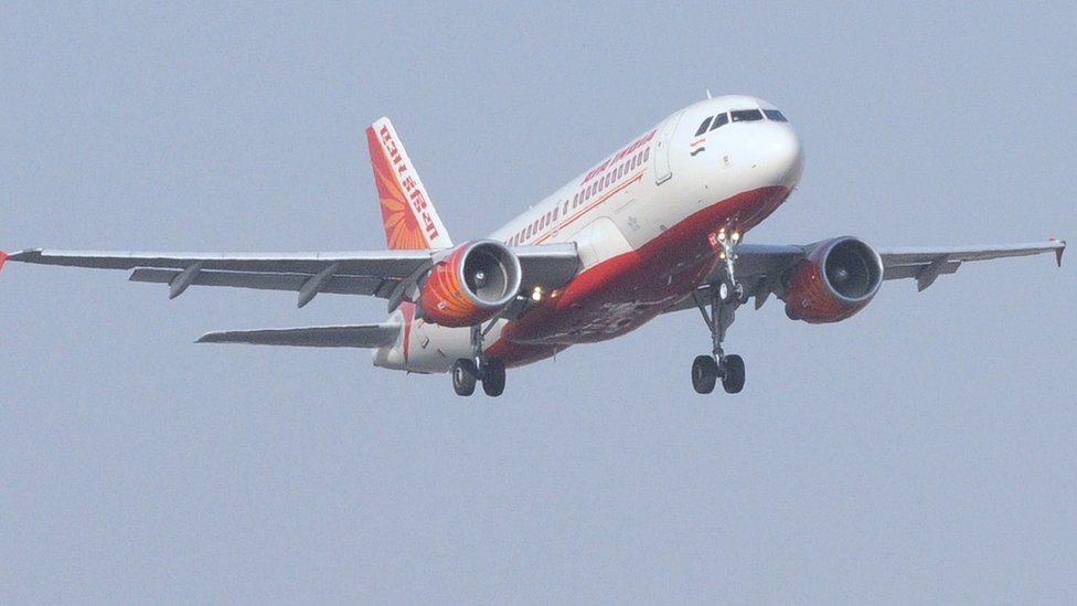 Air India plane comes down for landing