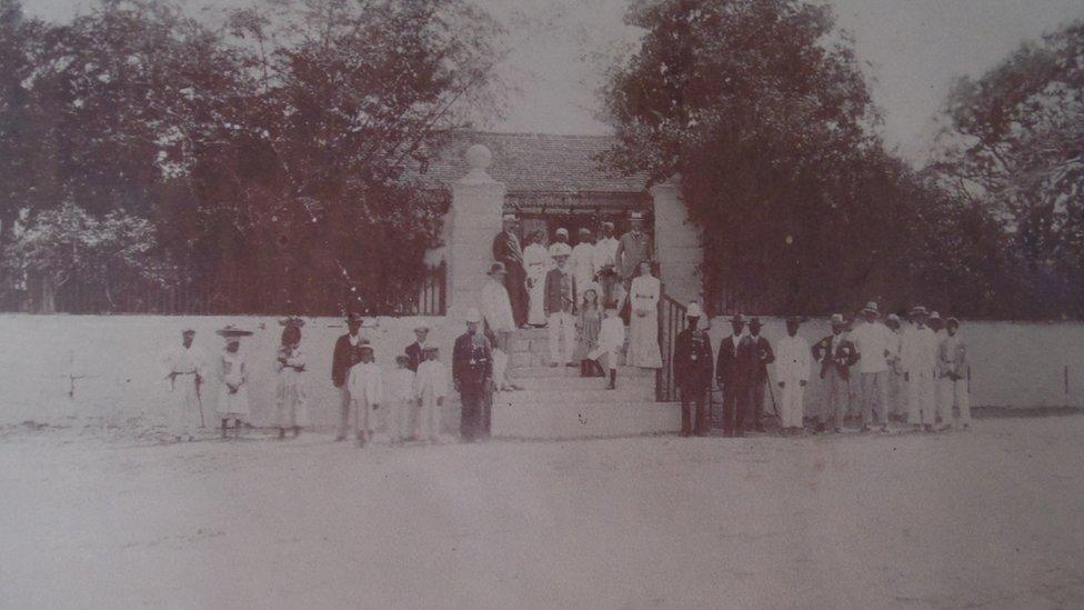 Great House at Betty's Hope sugar plantation, Antigua, 1904