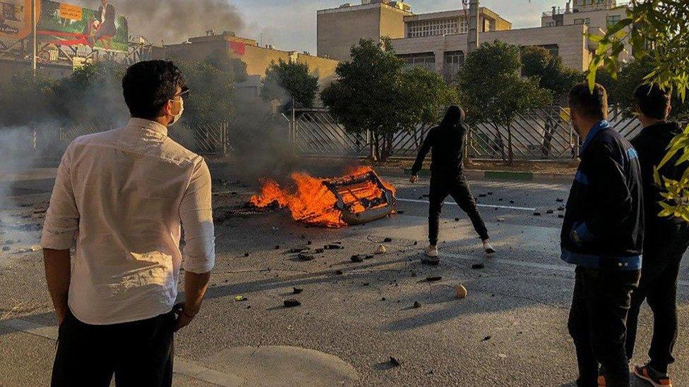 Protesta antigubernamental en Shiraz