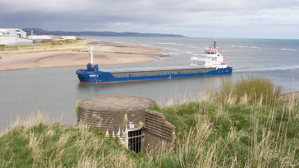 Ship in Montrose harbour