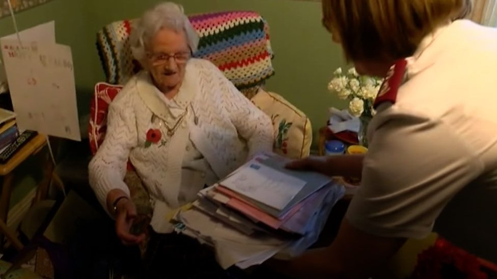 Dilys Armistice celebrates 100th birthday in Sussex