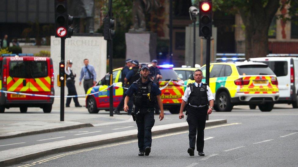 Westminster car crash: Man arrested as pedestrians injured