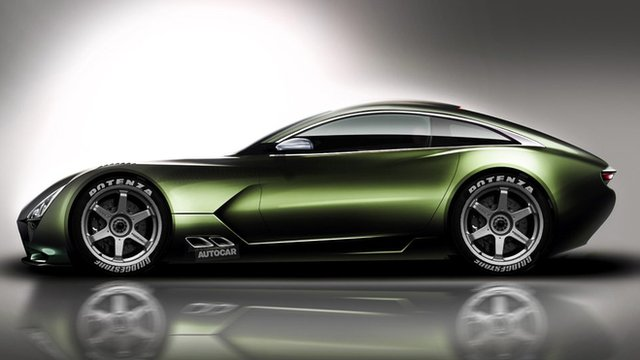 A computer-generated image of what the new TVR might look like