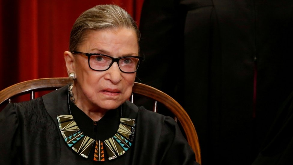 Ruth Bader Ginsburg pictured in 2017
