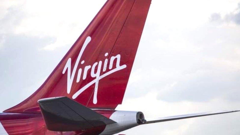 維珍航空稱,現在飛行的航班幾乎是空的。