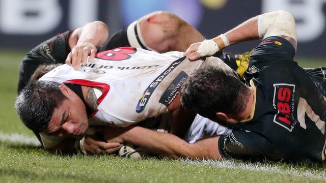 Nick Williams scored two of Ulster's four tries in Friday's 32-0 win over Zebre