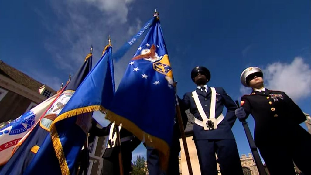 US Air Force unit receives Freedom of Huntingdon