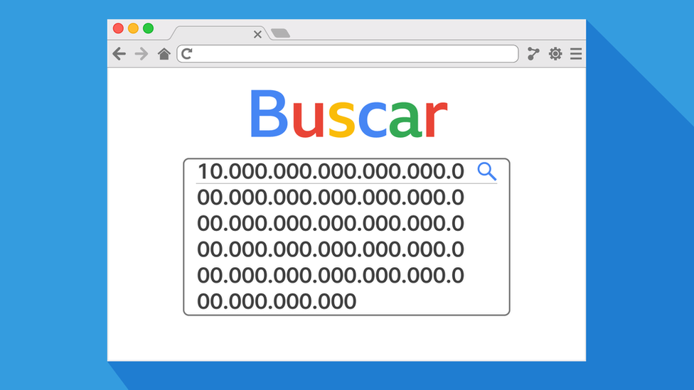 Buscador símil Google con gúgol. Search googol