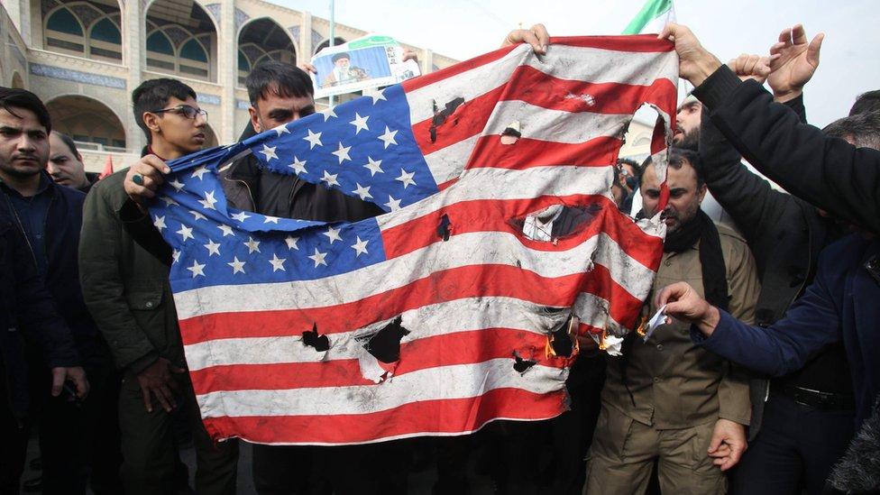 Protestas en Irán por la muerte de Soleimani