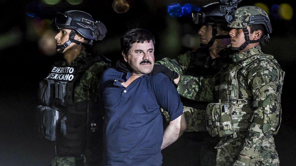 El Chapo lakaplı Meksikalı uyuşturucu baronu Joaquin Guzman'ın davası ABD'de devam ediyor.