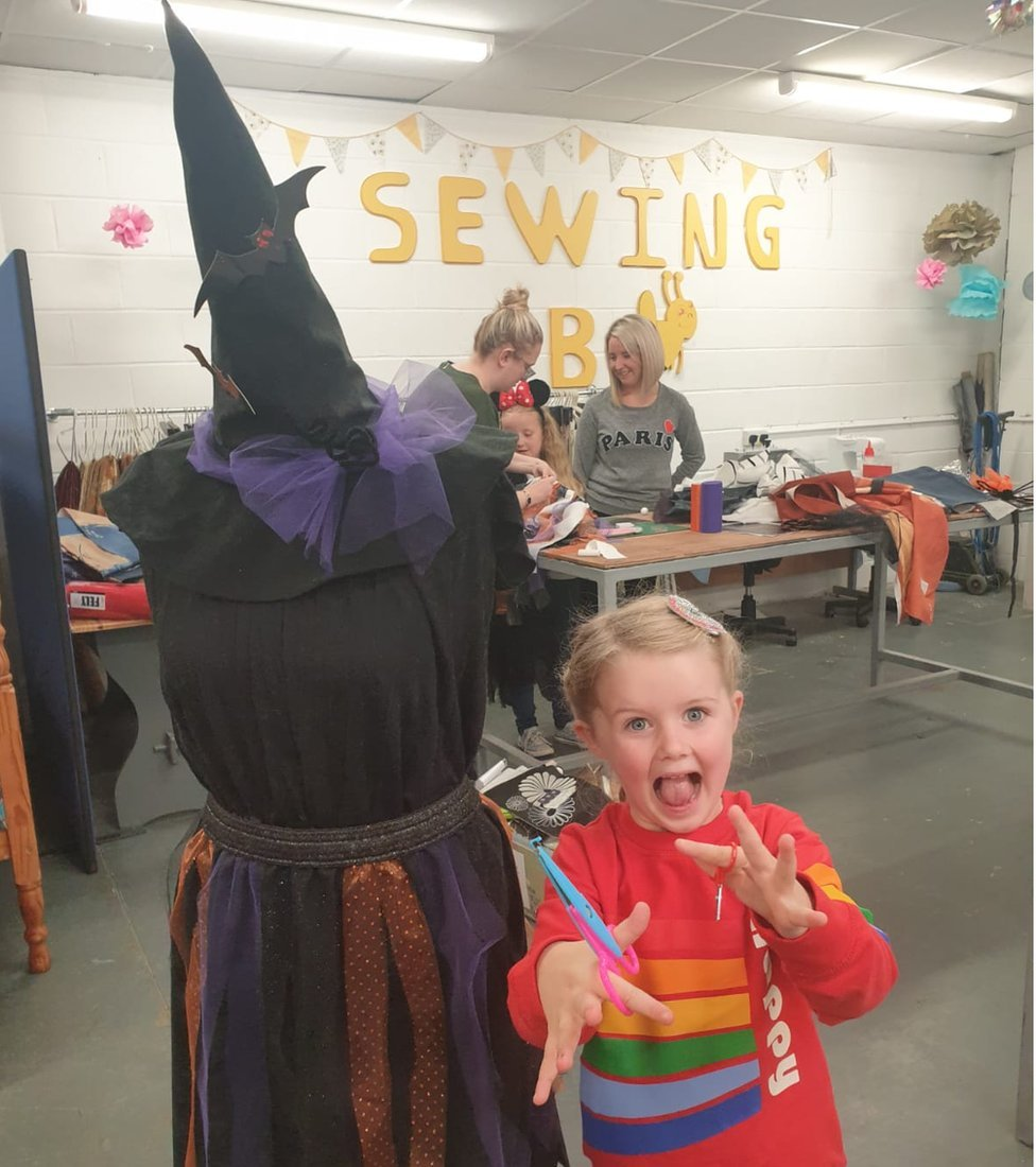 Lily Durkan at the Stitch a Witch workshop in Derry