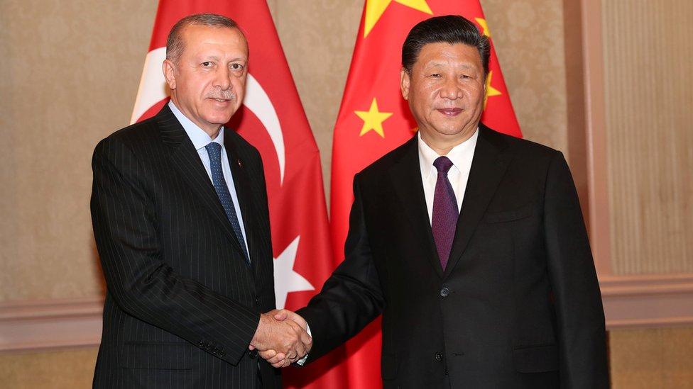 Cumhurbaşkanı Erdoğan 26 Temmuz'da Çin Devlet Başkanı Şi Jinping ile Johannesburg'daki BRICS zirvesinde bir araya gelmişti.