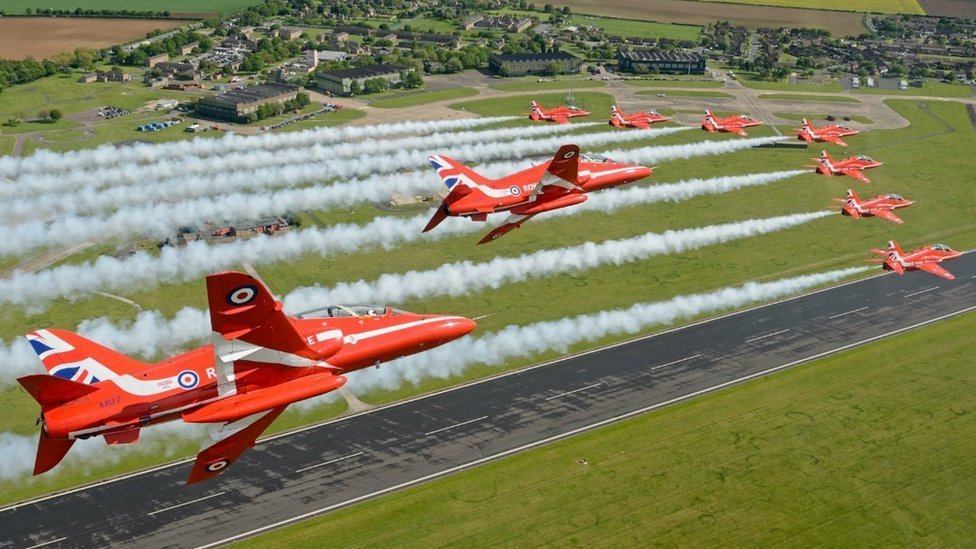 Red Arrows to move from RAF Scampton to one of three sites