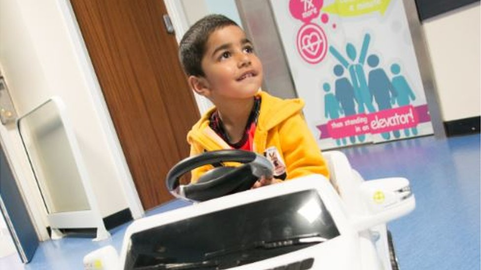 Mini Mercedes gives young patients in Sandwell a lift