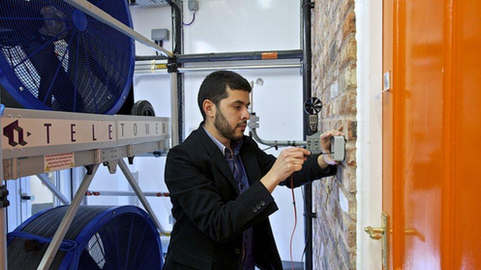 Scientist in Salford's Energy House