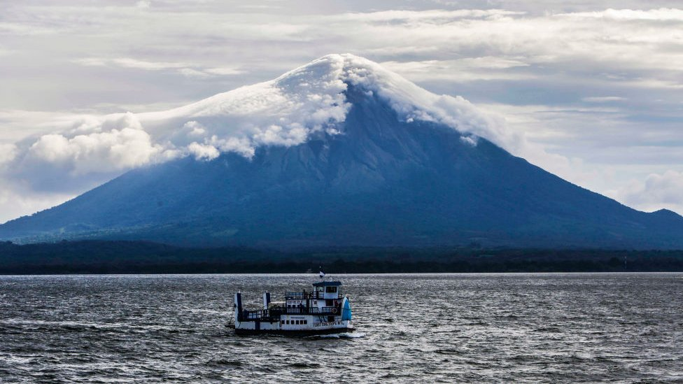 El volcán Concepción en Nicaragua