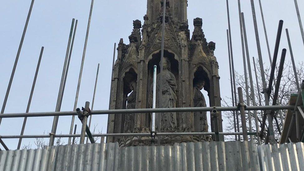 Eleanor Cross: Restoration of Northampton monument begins