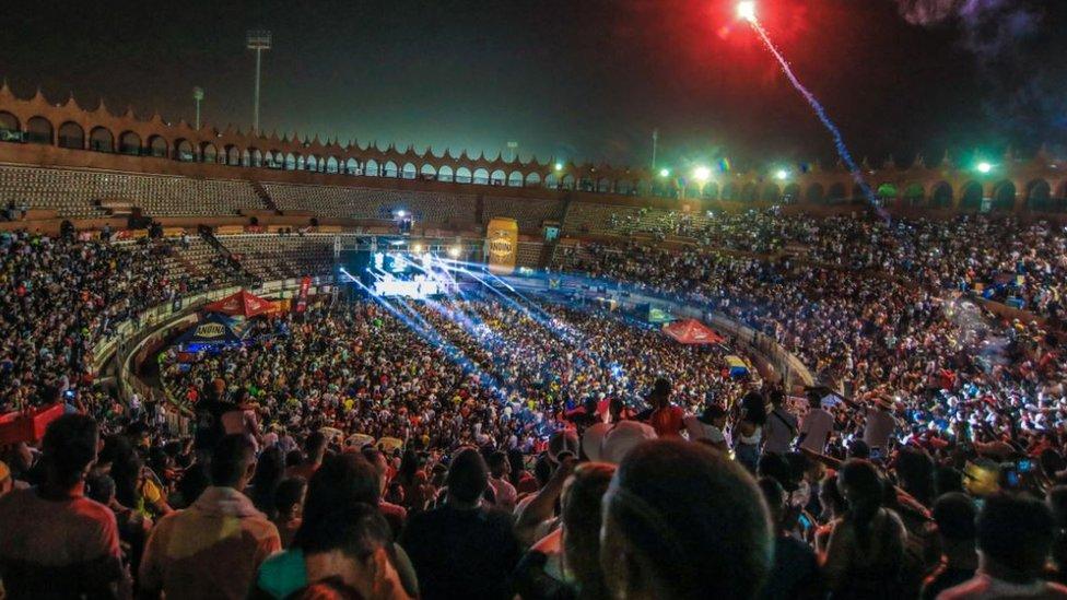 Concierto de champeta en Cartagena