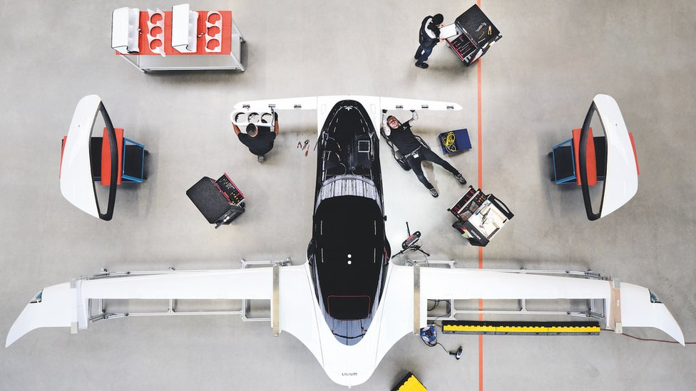 Lilium aircraft in the workshop